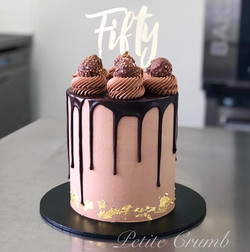 Hazelnut chocolate drip cake