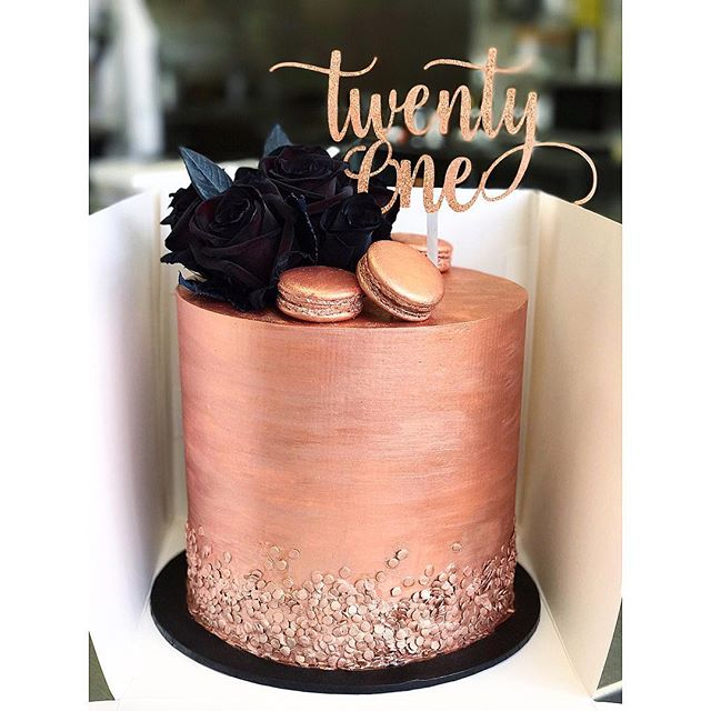 Black And Rose Gold Glitter Topper By Xoxodesign Au