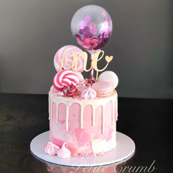 Confetti balloon cake