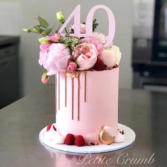 Pink and rose gold for Melissa's 40th! I