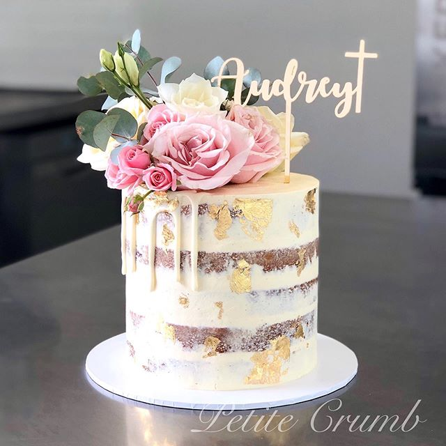 Audrey's Christening cake filled with Li