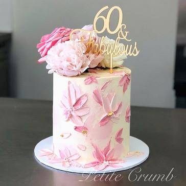 Sixty and fabulous! Our lemon velvet cak