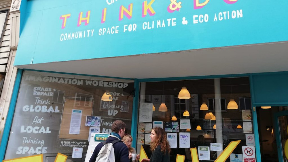 The outside view of the Think and Do Cafe