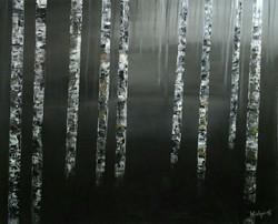 Birkenwald 3, 100cm x 120cm,  Acryl auf Leinwand, 2016
