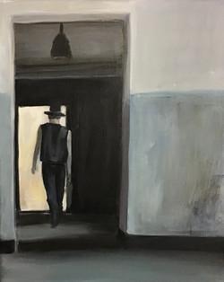 In leeren Räumen V, 30cm x 24cm, Acryl auf Leinwand, 2020