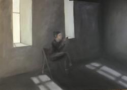 Abgetaucht, 100cm x 140cm, Acryl auf Leinwand, 2019