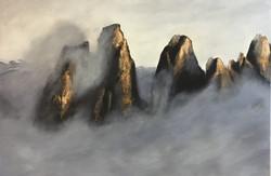 Dolomiten I, 100cm x 150cm, Acryl auf Leinwand, 2020