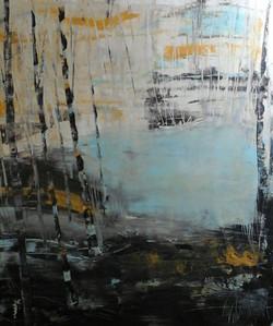 Im Moor I, 120 x100cm Acryl auf Leinwand  2017