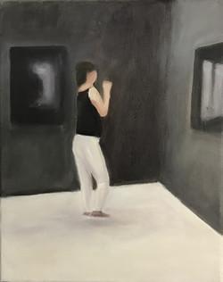 In leeren Räumen VI, 30cm x 24cm, Acryl auf Leinwand, 2019