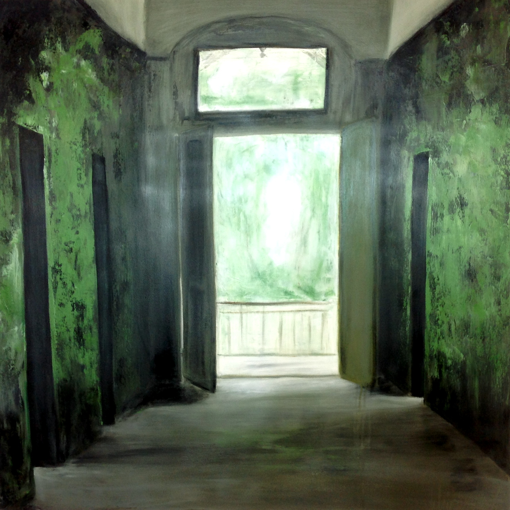 Offene_Türen 100 x 100 cm