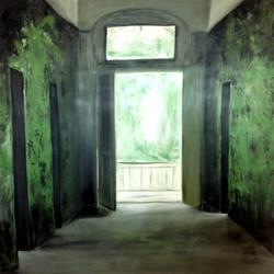 Offene Türen 100cm x 100cm, Acryl auf Leinwand, 2016