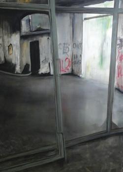 Zerfall I, 140cm x 100cm, Acryl auf Leinwand, 2017
