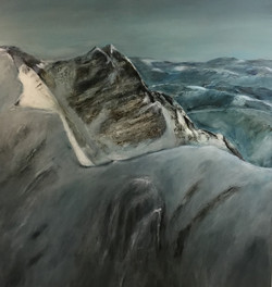 Steinernes Meer, 150cm x 140cm, Acryl auf Leinwand, 2020