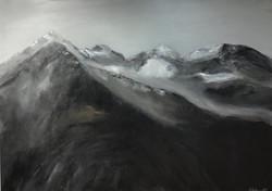 Steinberge, 100cm x 150cm, Acryl auf Leinwand, 2019