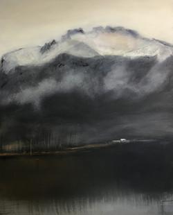 Blick von Feldwies, 100cm x 80cm, Acryl auf Leinwand, 2018