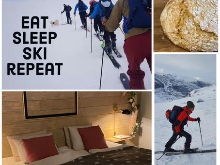 eat, sleep, ski,repeat