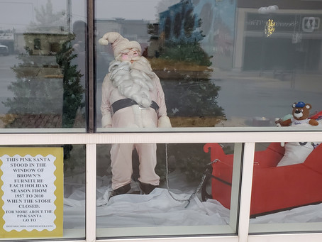 The Pink Santa from Brown's Furniture Store in downtown Coffeyville