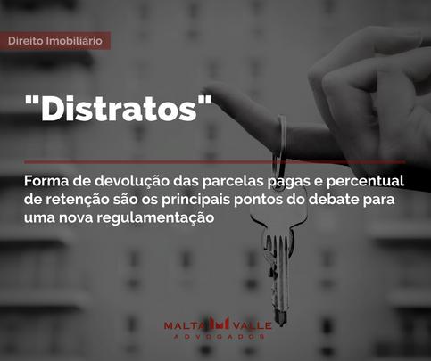 """""""Distratos"""": forma de devolução das parcelas pagas e percentual de retenção são os principais pontos"""