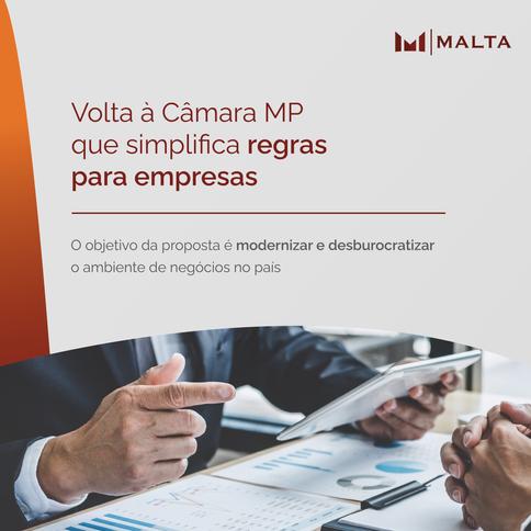 Volta à Câmara MP que simplifica regras para empresas