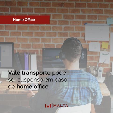 Vale Transporte pode ser suspenso em caso de home office