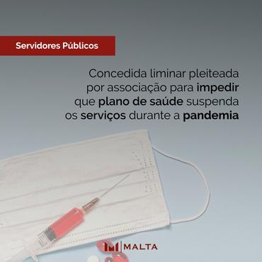 Concedida liminar pleiteada por associação para impedir que plano de saúde suspenda os serviços dura