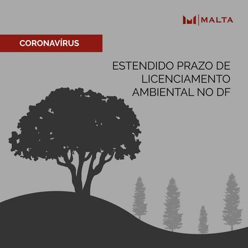 COVID-19: Estendido prazo de licenciamento ambiental no DF