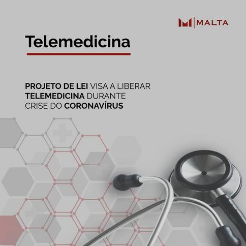 Projeto de lei visa à liberação da telemedicina durante crise do novo coronavírus (SARS-Cov-2)