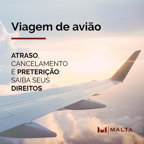 Direitos do passageiro em voos atrasados, cancelados ou em caso de preterição