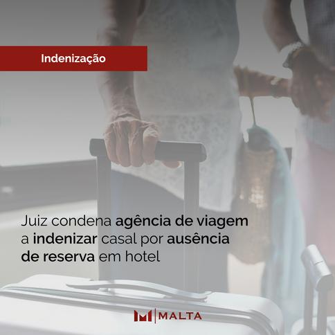 Juiz condena agência de viagem a indenizar casal por ausência de reserva em hotel