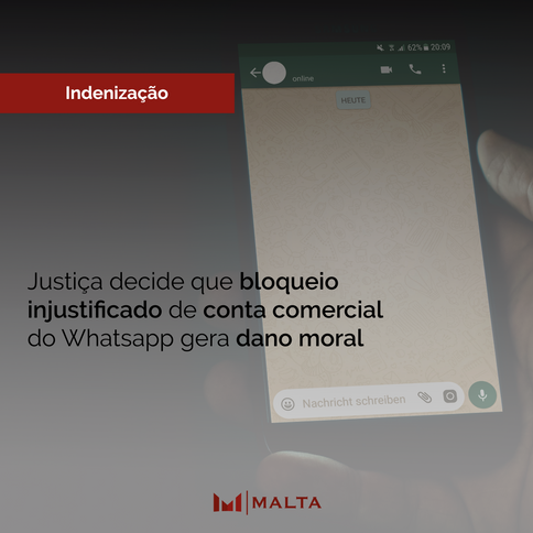 Justiça decide que bloqueio injustificado de conta comercial do Whatsapp gera dano moral