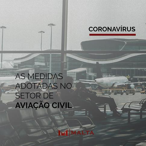Medidas adotadas no setor de aviação civil