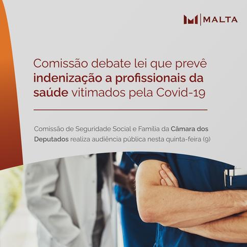 Comissão debate lei que prevê indenização a profissionais da saúde vitimados pela Covid-19