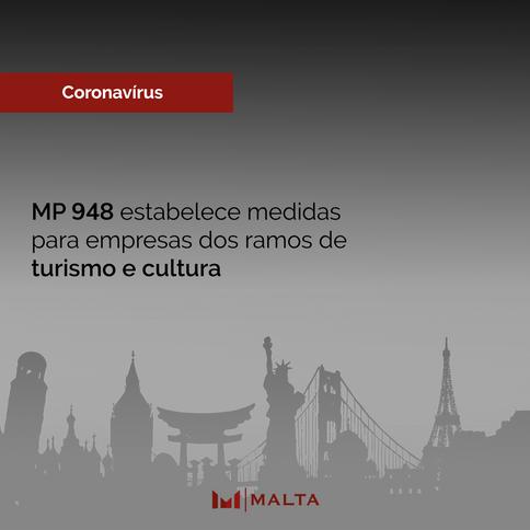 MP 948 estabelece medidas para empresas dos ramos de turismo e cultura