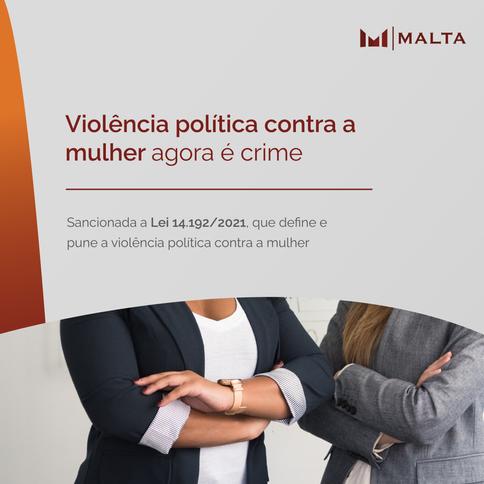 Violência política contra a mulher agora é crime