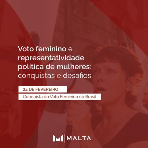 Voto feminino e representatividade política de mulheres: conquistas e desafios