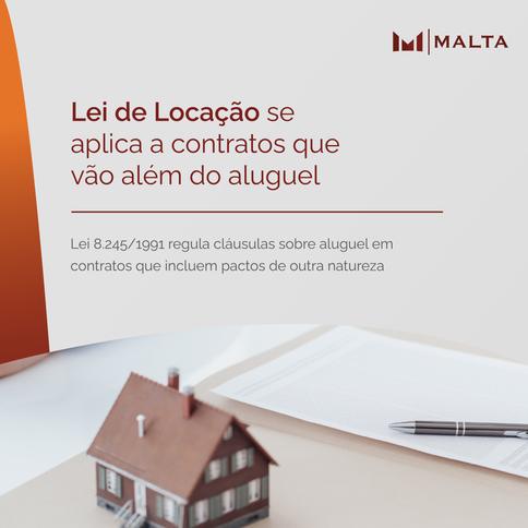 Lei de Locação se aplica a contratos que vão além do aluguel