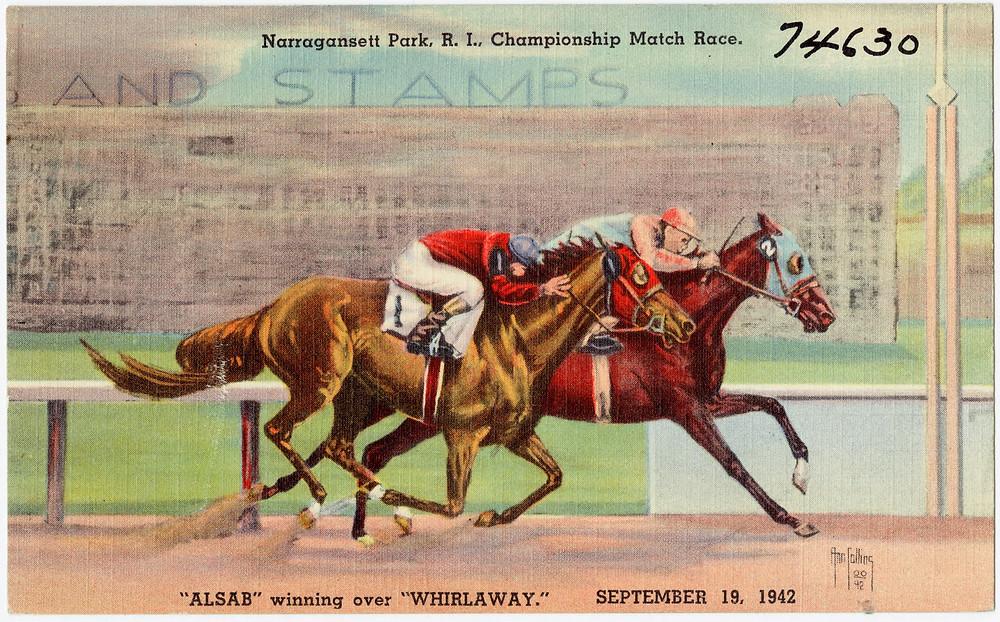 Whirlaway and Alsab match race, 1942 Narragansett Park.