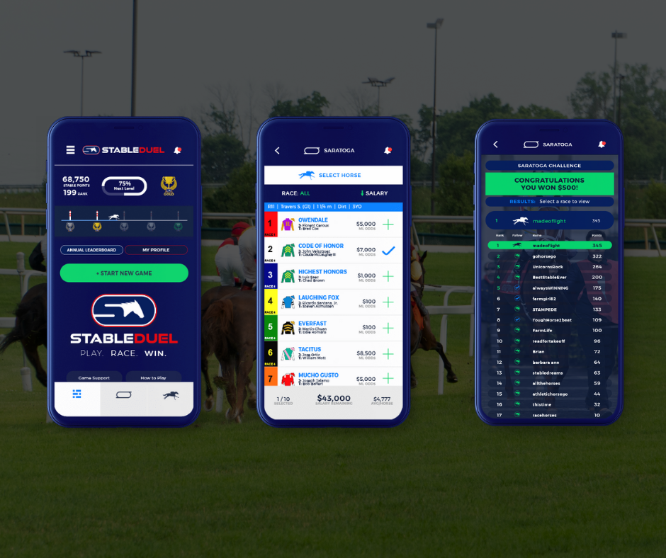 StableDuel, daily contest horse racing app, horse racing innovation and fan development
