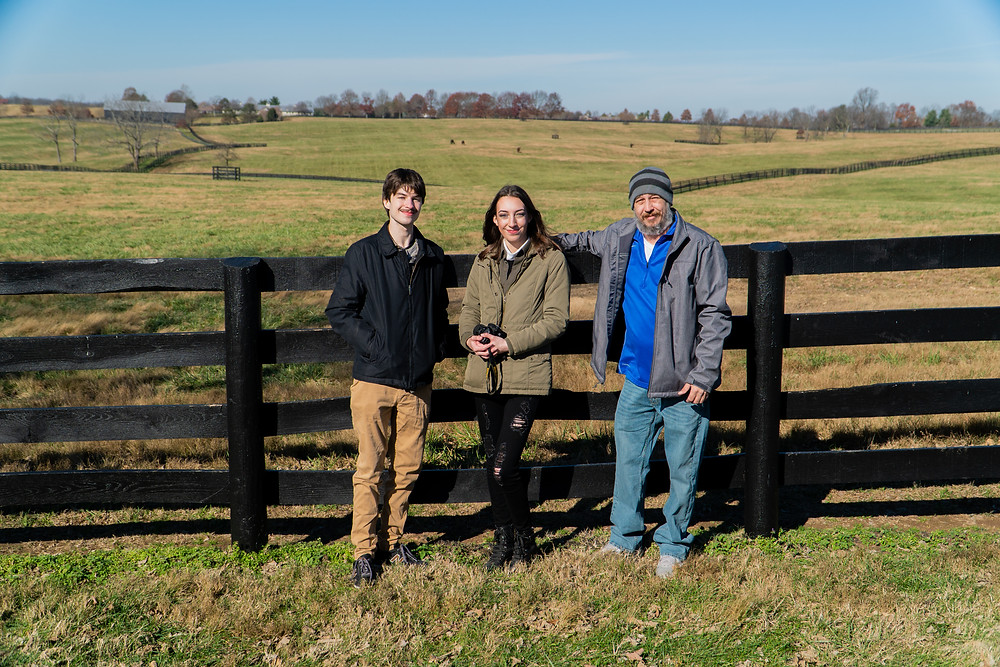 Champions of the Track horse racing media company at Mill Ridge Farn, Horse Country tour