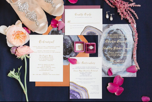 geode inspired weddings