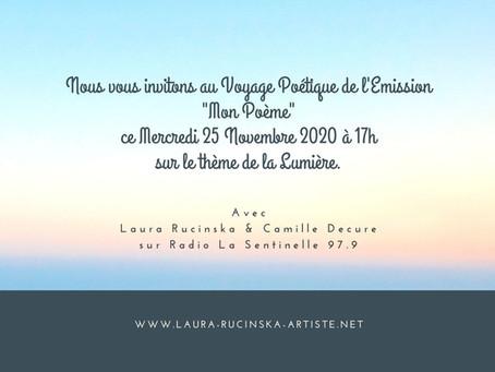 """Pour La Lumière; Fatima Chbibane nous fait l'honneur d'être notre Invitée pour """"Mon Poème"""""""