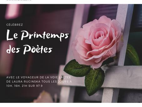 Célébrez le Printemps des Poètes avec Laura Rucinska sur Radio La Sentinelle 97.9