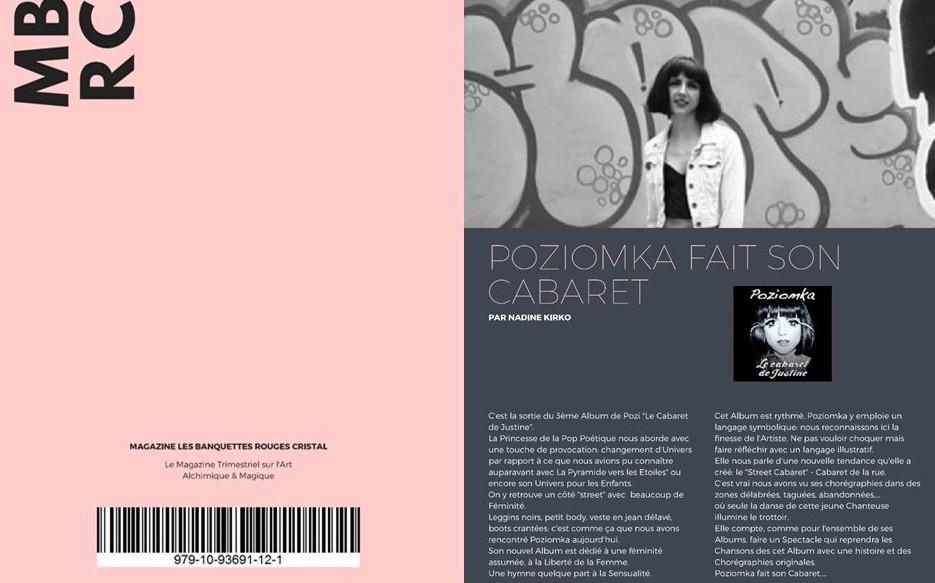 Poziomka crée le Street Cabaret à travers son Nouvel Album Le Cabaret de Justine