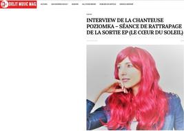 """Interview de la Chanteuse Poziomka pour la sortie de son Album """"Le Cœur du Soleil"""""""
