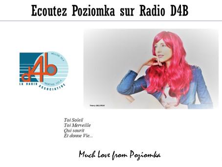 """Ecoutez Pozi dans """"Le Cœur du Soleil"""" & """"Les Fleurs du Bonheur"""" sur Radio d4"""