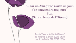 """""""Sara et le vol de l'Oiseau"""" sur Radio Déclic"""
