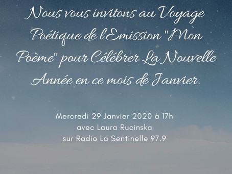 """Emission """"Mon Poème"""" pour la Nouvelle Année avec notre Jeunesse Audacieuse"""