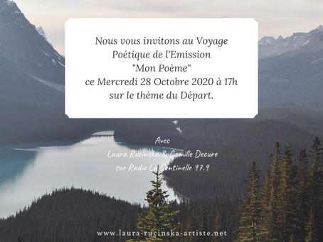 """Etienne Orsini est notre Invité sur le thème du Départ dans notre Emission """"Mon Poème"""""""