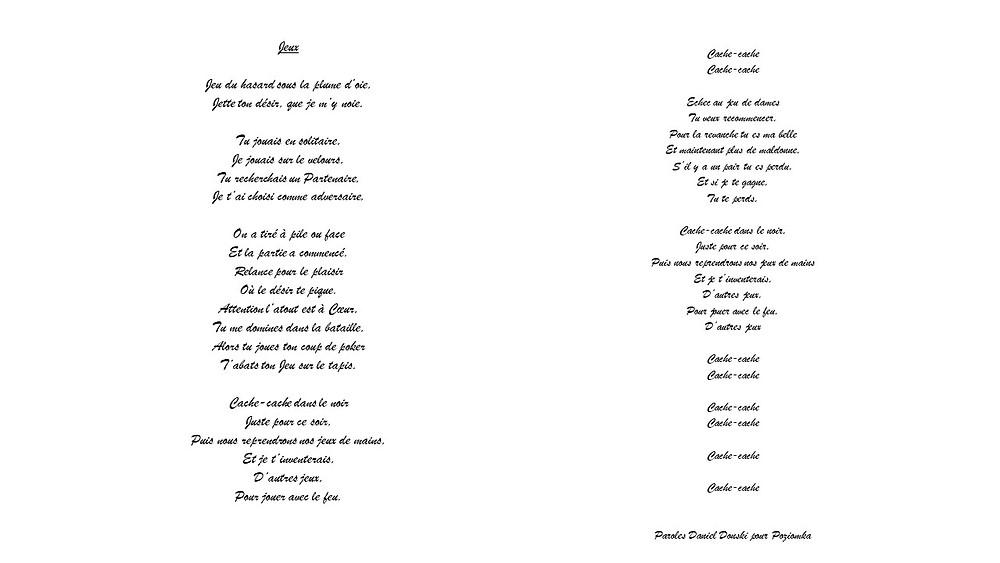 Paroles de la Chanson écrites par Daniel Donski chantée par Poziomka
