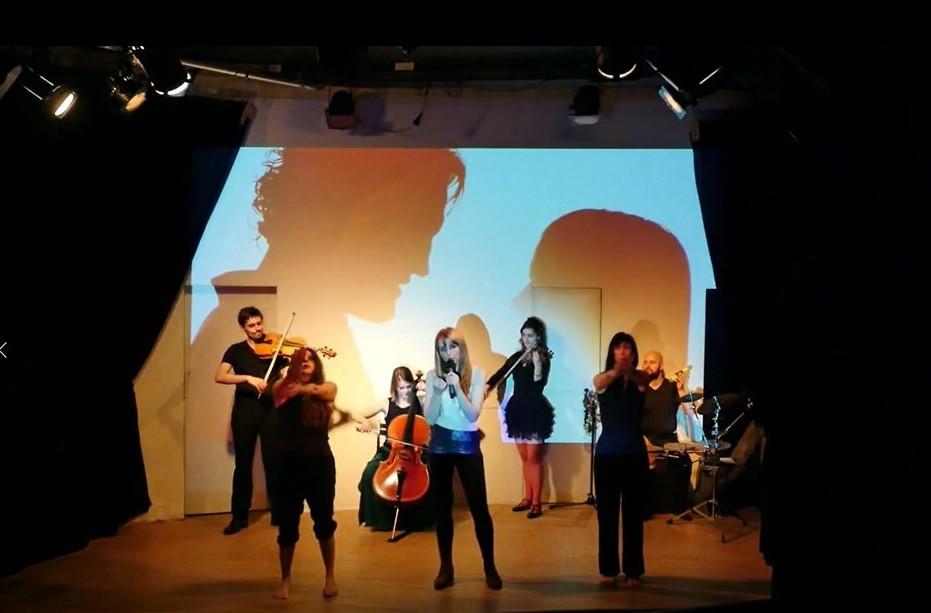 Concert de Poziomka and The Libellules - extrait du vidéo-concert sur la Chanson Les Matins de Feu